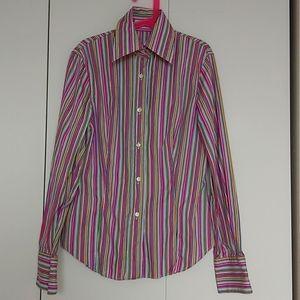 ETRO Milano Designer Pinstripe Button Shirt